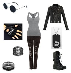 """Untitled #256"" by southerngoth ❤ liked on Polyvore featuring BLK DNM, Bakers, Ion and ASOS"