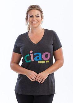 Plus Size Clothing - Activewear - CIAO TEE - Virtu