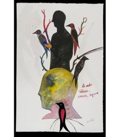 Nido - Livin'Art di Fabrizio Barsotti Acquarello su carta cm 56x38