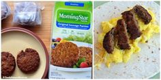 MorningStar Farms® Original Veggie Sausage Breakfast Burrito (Get the recipe and enter the sweeps held by Family Balance Sheet! Vegetarian Breakfast, Sausage Breakfast, Best Breakfast, Make Ahead Breakfast Burritos, Veggie Sausage, Healthy Cereal, Christmas Breakfast, Eat Smart, Popsicles Diy