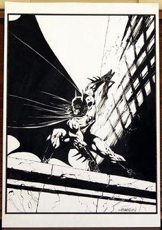 Wrightson Batman pinup Comic Art