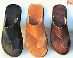 Gent's Classic FlipFlop, Handcrafted Genuine Leather Upper with my 'Triple Rubber Composite Sole' – Comfort, Durability and Safety Gent's Classic FlipFlop Handcrafted Genuine Leather Upper Robert Johnson, Leather Upper, Leather Men, Brown Leather, Natural Tan, Natural Leather, Leather Flip Flops, Foot Pads, My Signature