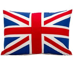 "Mina Victory Life Styles Union Jack 24"" x 16"" Flag Pillow 