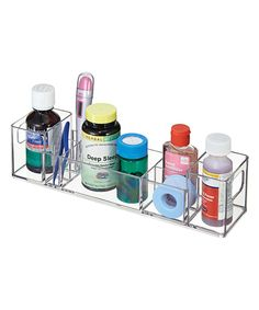 Take a look at this Clear Medicine Cabinet Organizer today!