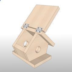 Simple Birdhouse Woodworking Plan by Sawtooth Ideas #woodworkingplans