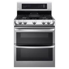 LG 30-inch Freestanding Double Oven 18,500-BTU Gas Range