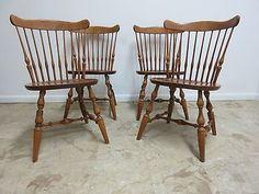 Vintage Duxbury Windsor Duxbury Maple Dining Room Chairs
