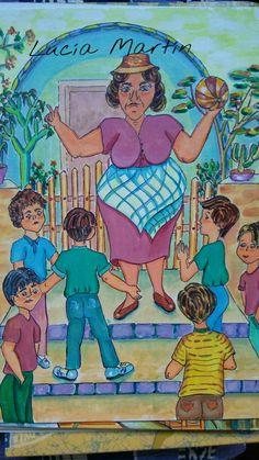 """Ilustración de Lucía Martín. Cuento. """"Doña Filomena la Ballena"""" de J.Nieto."""