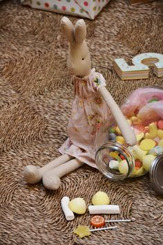 Blaubloom Maileg Bunny, Doll Patterns, Doll Clothes, Girly, Teddy Bear, Dolls, Mice, Rabbits, Bunnies
