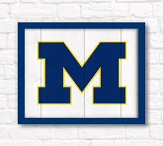 University of Michigan Rustic wall hanging by thePaintedLlama, $55.00