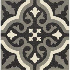 Tile Sample of Abbey Tintern Victorian Encaustic Effect Wall & Floor Tiles