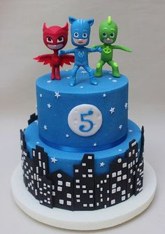 the 20 Best Ideas for Pj Mask Birthday Cake . P J Masks Cake Pj Masks Birthday Cake, Birthday Cake Card, Birthday Fun, Birthday Celebration, Birthday Parties, Birthday Ideas, Pjmask Party, Party Cakes, Party Ideas