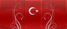 motifli türk bayrağı