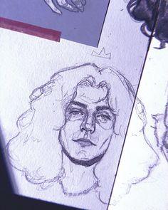 """4e641d81b Mariana DeLuna 🌙 on Instagram: """"Rey Robert 👑🌿🍃 #robertplant #sketch  #sketchbook #pencil #ledzeppelin #doodle #dibujo #sketchbookshare #art  #rockandroll ..."""