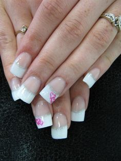 French with pink wedding hearts - Nail Art Gallery by NAILS Magazine