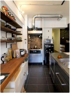 洞窟を作ることでコンパクトでも色々!広々!なマンション - 物件ファン Kitchen Dining, Kitchen Cabinets, Kitchen Interior, Life Is Beautiful, Home Kitchens, Table, Room, Furniture, Side Return
