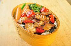 甘辛豚海苔弁 : 息子&主人へ愛ある健康弁当