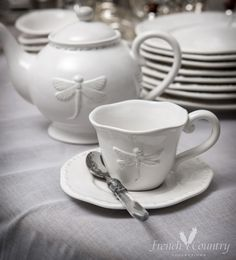 French Country Collections Dragonfly Dinnerware & White dragonfly dishes | Home sweet home stuff | Pinterest ...