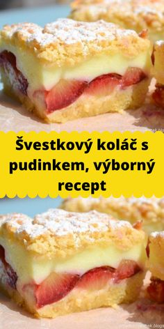 I Love Food, Good Food, Bread Dough Recipe, Czech Recipes, Sweet Cakes, Sweet Recipes, Yummy Treats, Food And Drink, Snacks