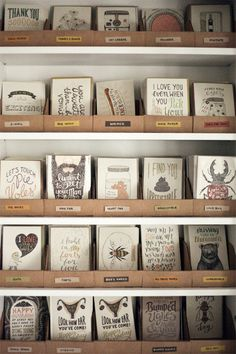 greeting card inventory storage