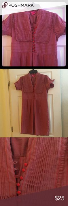 🆕 Dear ab Dress Bought this in a boutique in San Francisco. Only worn a few times. The pictures do not do this dress. It has a slight shimmer to it. Beautiful details. Just too small for me now, it does run small.  Looks awesome over wide leg pants or with skinny jeans and boots! dear ab Dresses