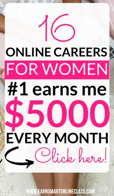 17 Best Business Ideas for Women in Diy And Crafts, Are you searching for online careers for women to start making money online this year? Get this list of 17 best business ideas for women for women. At Home Careers, Online Careers, Online Jobs, Online Courses, Online College, Best Careers For Moms, Tips Online, College Tips, Education College