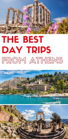 the best day trips from Athens Greece, do a day trip from Athens to Sounio, 3 Greek islands, Delphi, Meteora and more. The best day tours from Athens Greece #cruiseoutfits