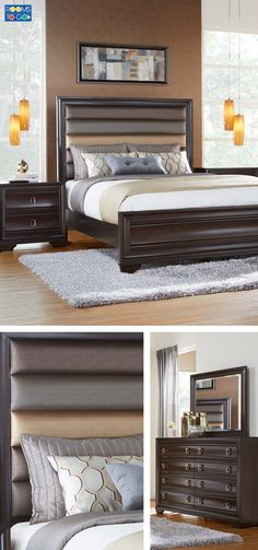 Kasala - Modern fabric or leather platform bed - Furniture stores ...