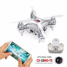Upslon Mini Pocket Drone. $48.95 Enjoy hours of fun with the Upslon CX-10WD-TX Mini Pocket Drone. Featuring all the bells and whistles of popular drones on the market today, the Upslon mini drone is also one of the world's smallest WiFi FPV drones, and includes altitude hold, WiFi FPV, high quality video/still camera, and a transmitter that doubles as a carrying case.