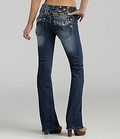 Miss Me Jeans Feather-Embellished Bootcut Jeans