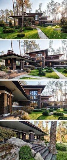 A contemporary Prairie House by Yunakov Architecture in Kiev.- A contemporary Prairie House by Yunakov Architecture in Kiev. – … A contemporary Prairie House by Yunakov Architecture in Kiev. Types Of Houses, Big Houses, Contemporary Architecture, Interior Architecture, Modern Contemporary House, Garden Architecture, Architecture Portfolio, Modern Spaces, Architecture House Design