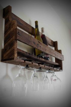 For sale in my New Etsy Shop!!! Recycled Wood Pallet Wine Rack by Handmadeinthefoxhole on Etsy, $50.00