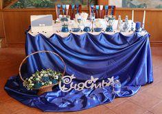 Синяя свадьба. Президиум, стол жениха и невесты