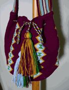 Another gorgeous Colombian Wayuu Mochila Bag from www.thetreasuretower.com - perfect color for fall!
