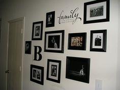 Family Photo Wall #homedecor