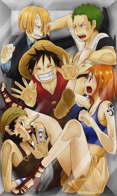 Straw-hat crew! So making this my new screen saver!