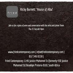 Opening Thu 15 Sep 6-8pm http://friedcontemporary.com/wp-content/uploads/2013/10/postcardbackmap.jpg  #fried_contemporary #exhibition #ricky_burnett #pretoria #events
