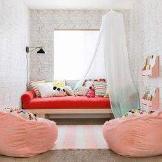 What a fun toddler or big girl room!
