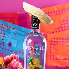 Dress up your bottle of Pinnacle® Pineapple vodka in a sassy sombrero for your fiesta!