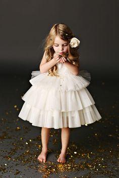Tulle Flower Girl Dresses by Fattie Pie.  More: http://www.confettidaydreams.com/flower-girl-dresses-fattie-pie/