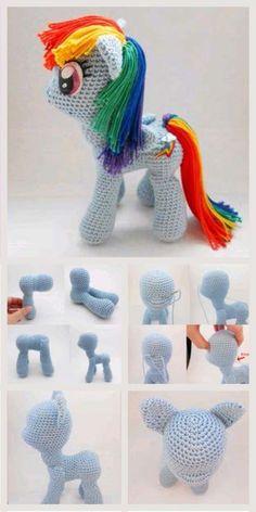 Little and Sweet Amigurumi Horse