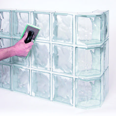 These glass block shower kits can enable you to design, and install a standard shower or a walk in door less shower yourself without the use of a craftsman.