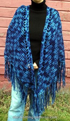 ABC Knitting Patterns - Midnight Elegance Shawl.