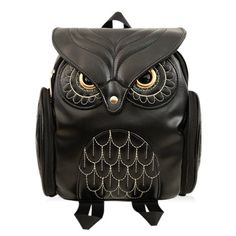 Satchel With Owl Pattern and Stitching Design ==