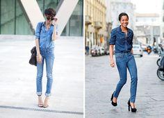 Fashion Victims Bcn: DENIM ON DENIM