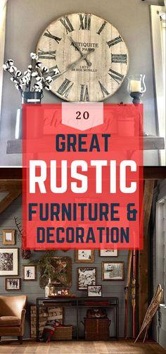 Brilliant Rustic Home Design #rustic #rustichomedesign Diy Rustic Decor, Rustic Home Design, Rustic Theme, Diy Home Decor, House Design, Decoration, Simple, Pretty, Top