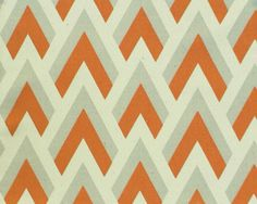 TWO Curtain Panels 25 x 84  Orange Light Grey by FrenchMagnolia, $65.00