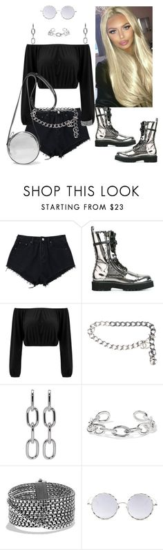 """Combat Boots My Style"" by dobesht ❤ liked on Polyvore featuring Dolce&Gabbana, Chanel, Alexander Wang, Jennifer Fisher, David Yurman, LMNT and Diane Von Furstenberg"