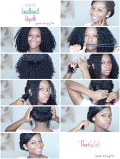 Headband Updo Tutorial from MahoganyCurls