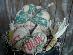 Feedsack pumpkins